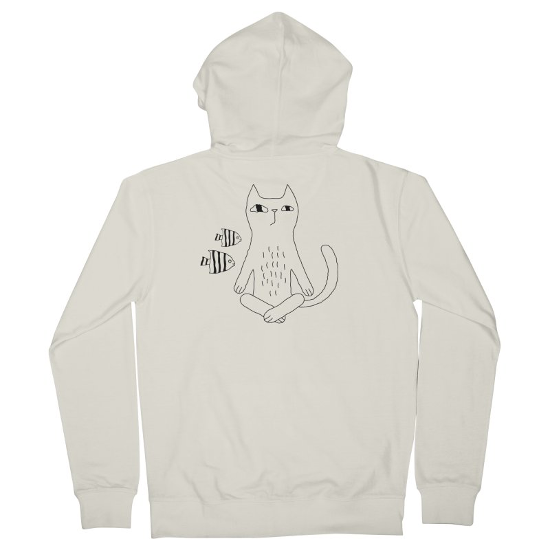 Catvana Men's French Terry Zip-Up Hoody by PENARULIT's Artist Shop