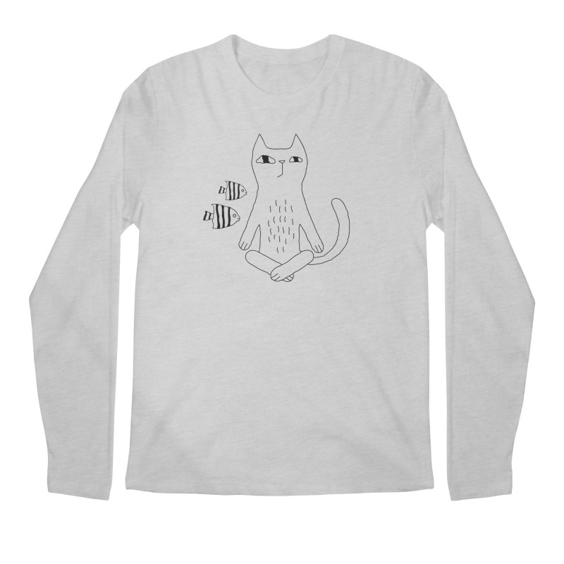 Catvana Men's Regular Longsleeve T-Shirt by PENARULIT illustration