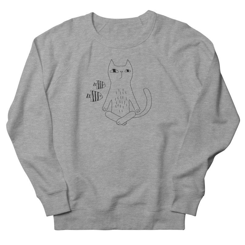 Catvana Men's French Terry Sweatshirt by PENARULIT's Artist Shop