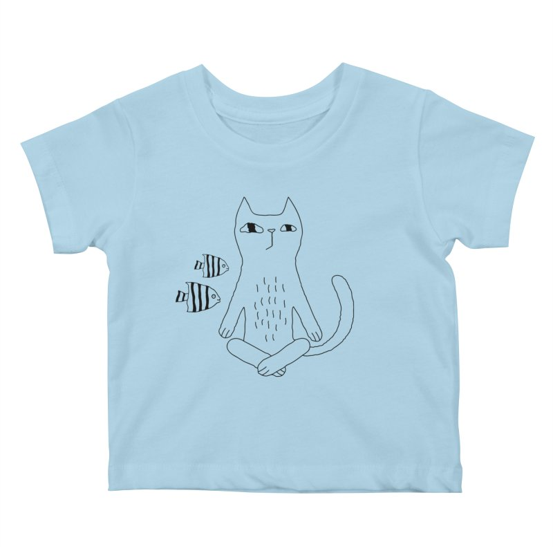Catvana Kids Baby T-Shirt by PENARULIT illustration