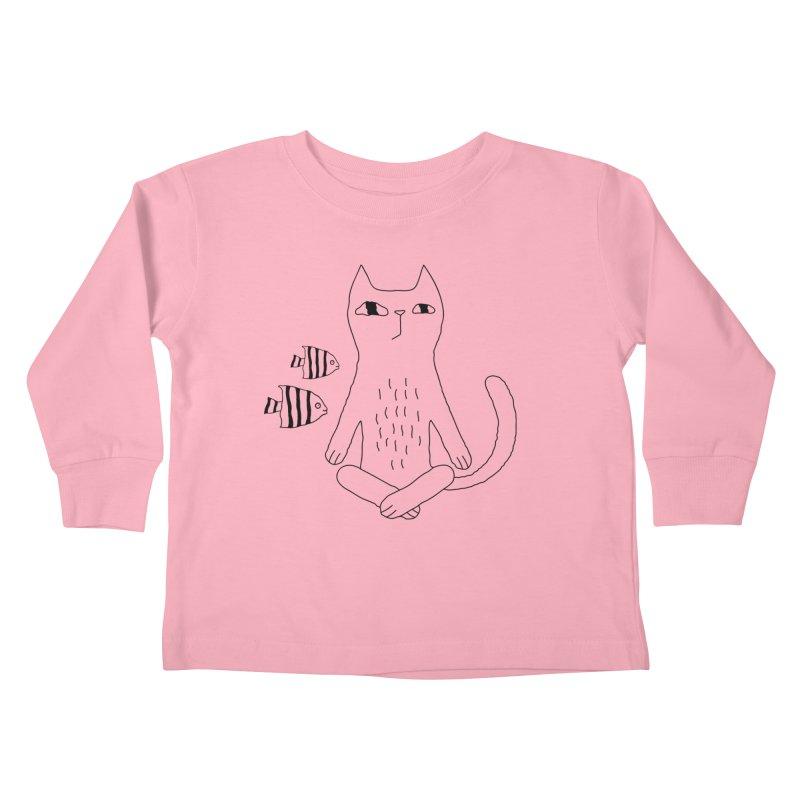 Catvana Kids Toddler Longsleeve T-Shirt by Ekaterina Zimodro's Artist Shop