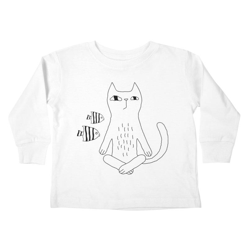 Catvana Kids Toddler Longsleeve T-Shirt by PENARULIT illustration