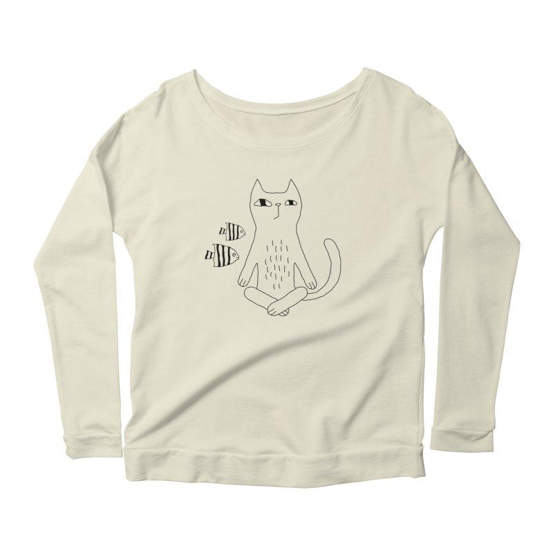 Catvana Women's Scoop Neck Longsleeve T-Shirt by PENARULIT's Artist Shop