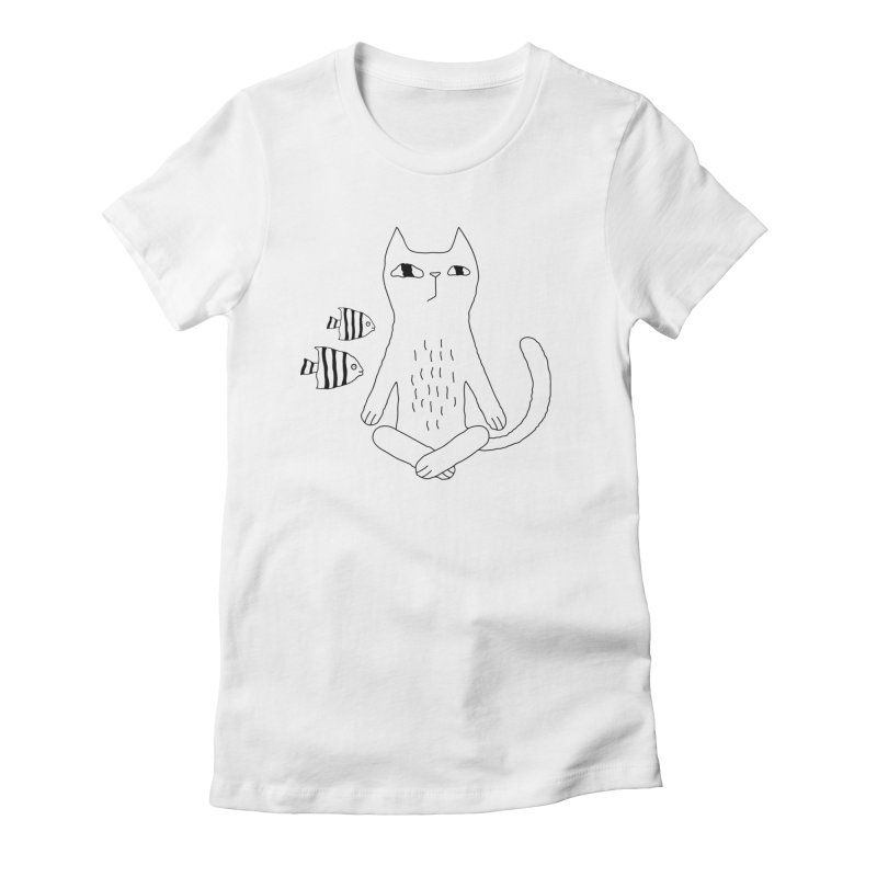 Catvana Women's Fitted T-Shirt by PENARULIT illustration
