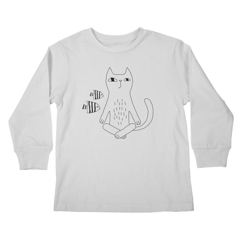 Catvana Kids Longsleeve T-Shirt by PENARULIT illustration