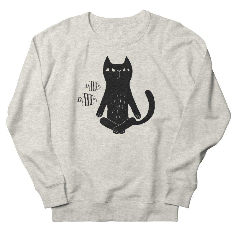 Catvana Men's Sweatshirt by Ekaterina Zimodro's Artist Shop