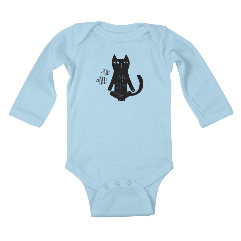 Catvana Kids Baby Longsleeve Bodysuit by Ekaterina Zimodro's Artist Shop