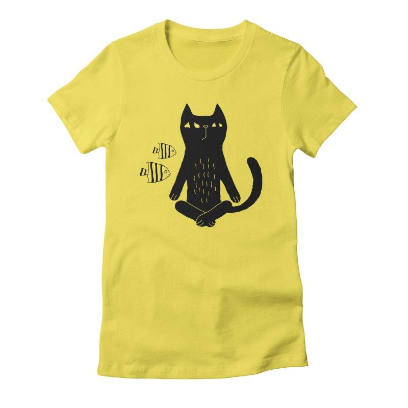 Catvana Women's T-Shirt by Ekaterina Zimodro's Artist Shop