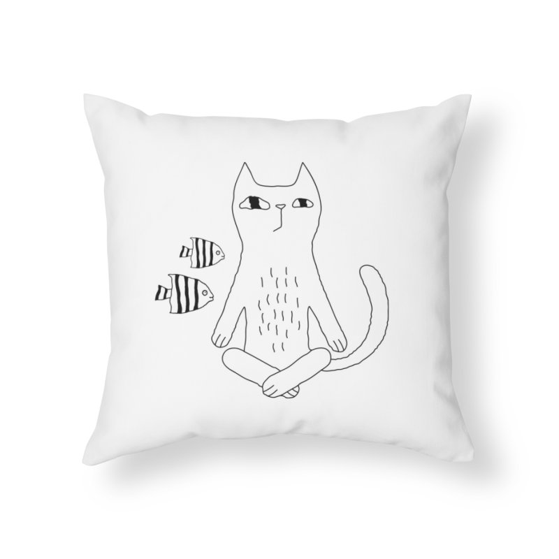 Catvana Home Throw Pillow by Ekaterina Zimodro's Artist Shop