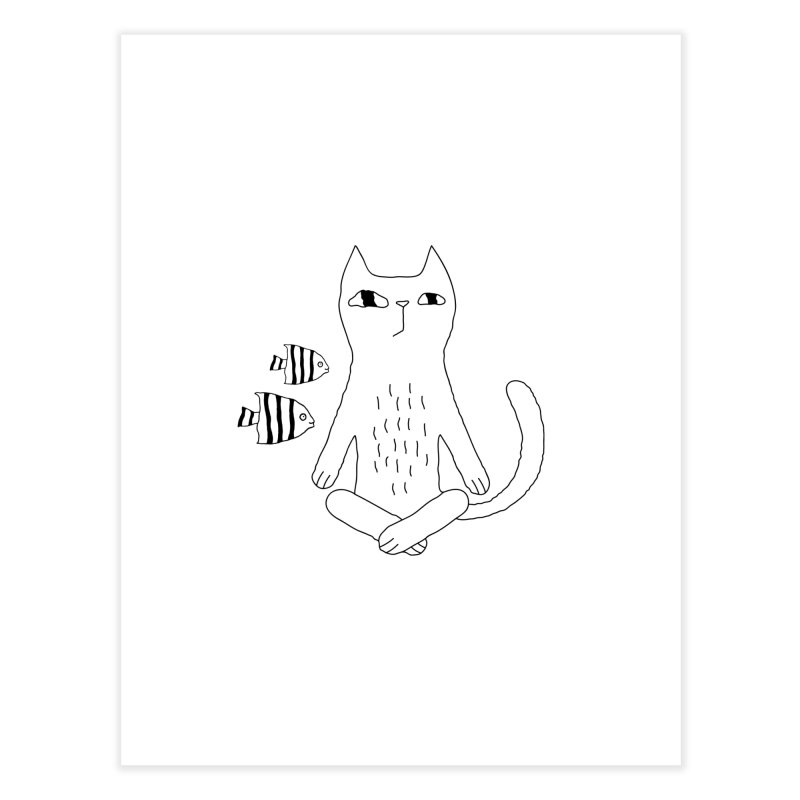 Catvana Home Fine Art Print by PENARULIT illustration