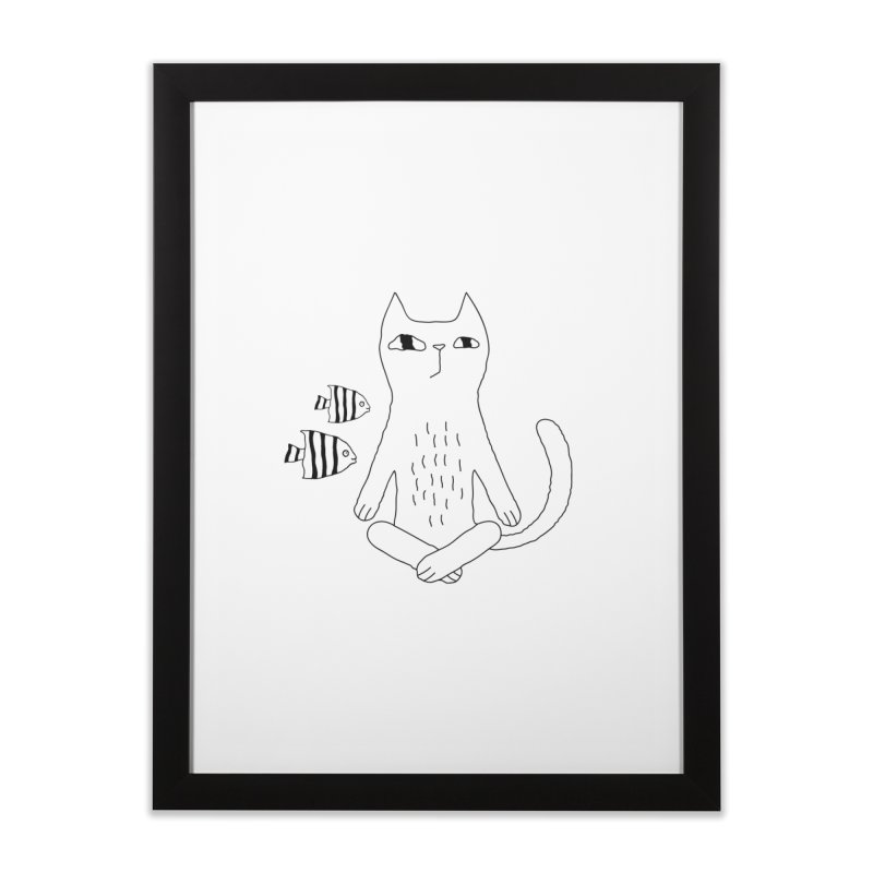 Catvana Home Framed Fine Art Print by PENARULIT's Artist Shop