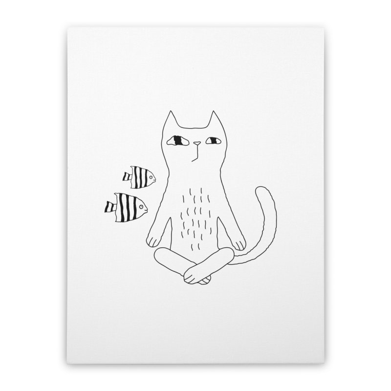 Catvana Home Stretched Canvas by PENARULIT illustration