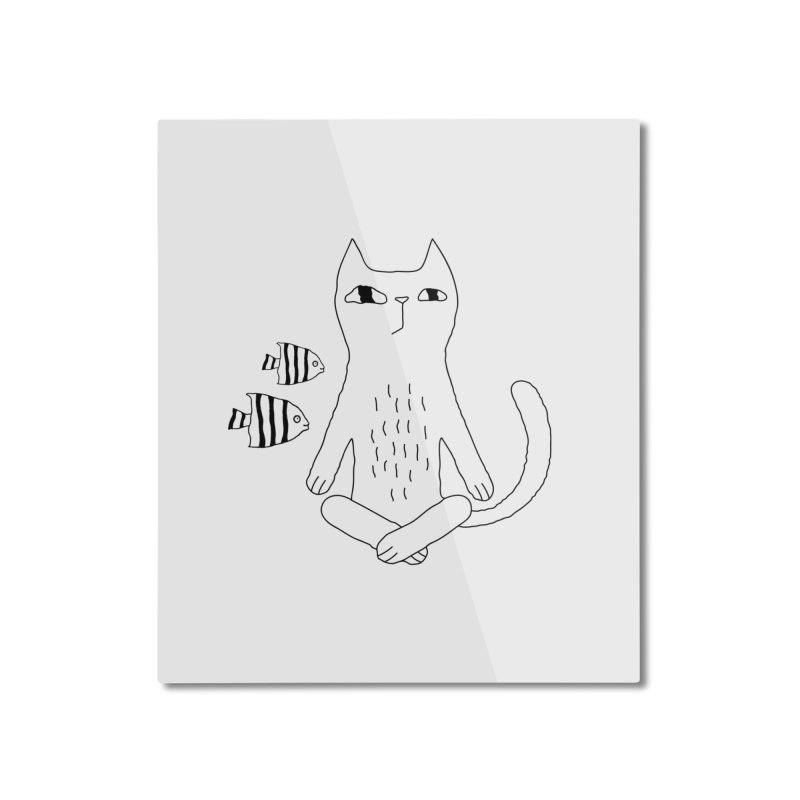 Catvana Home Mounted Aluminum Print by PENARULIT illustration