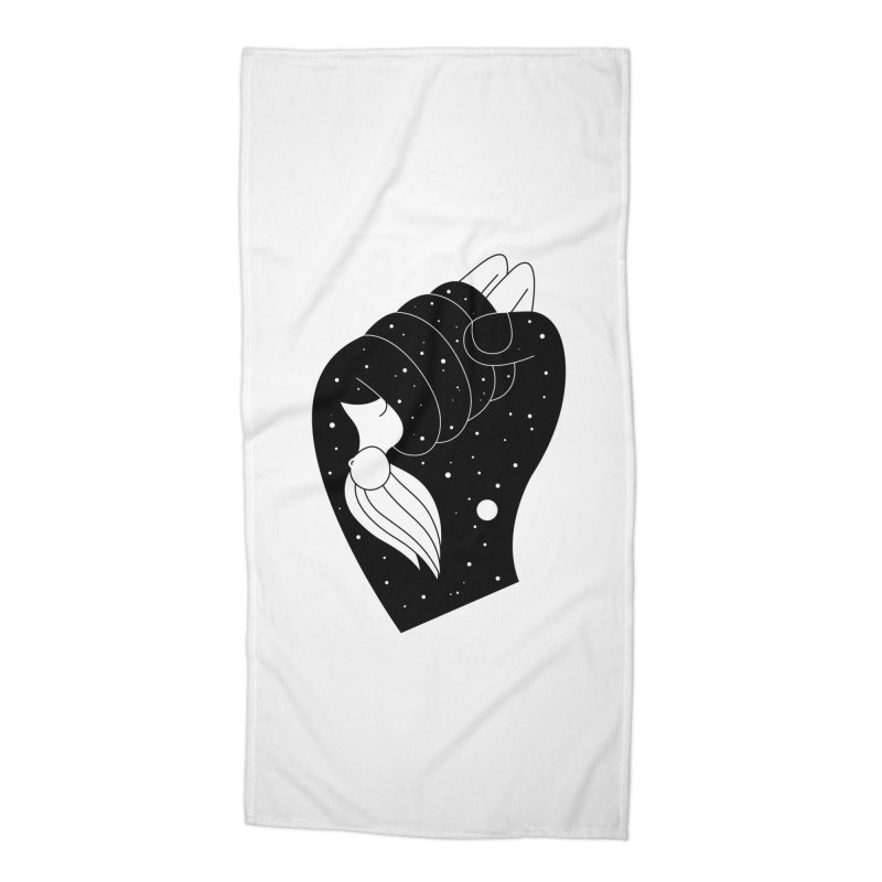 Insomnia Accessories Beach Towel by Ekaterina Zimodro's Artist Shop