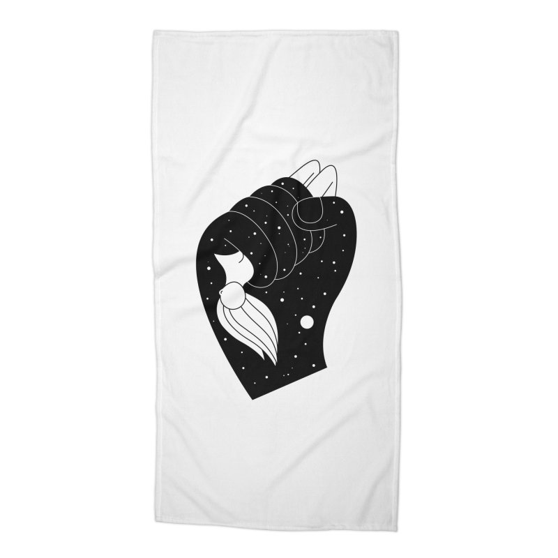 Insomnia Accessories Beach Towel by Ekaterina Zimodro's Artist Shop