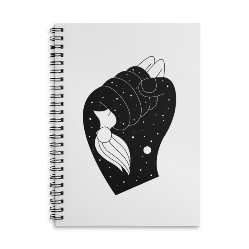 Insomnia Accessories Lined Spiral Notebook by PENARULIT illustration