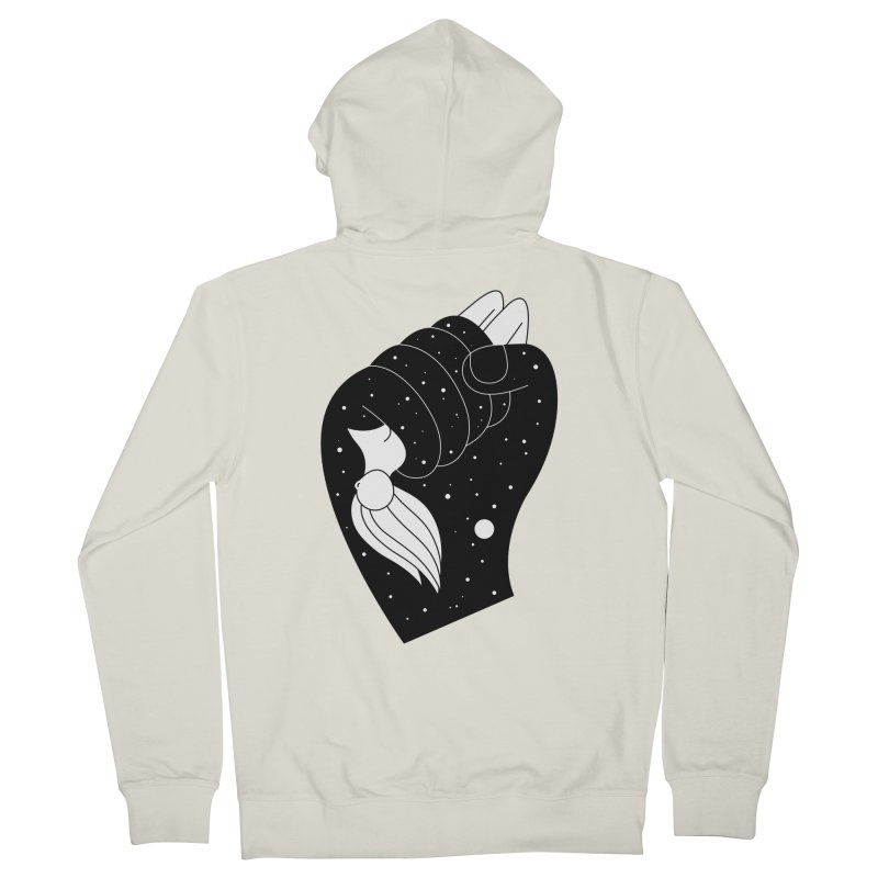 Insomnia Men's French Terry Zip-Up Hoody by PENARULIT's Artist Shop