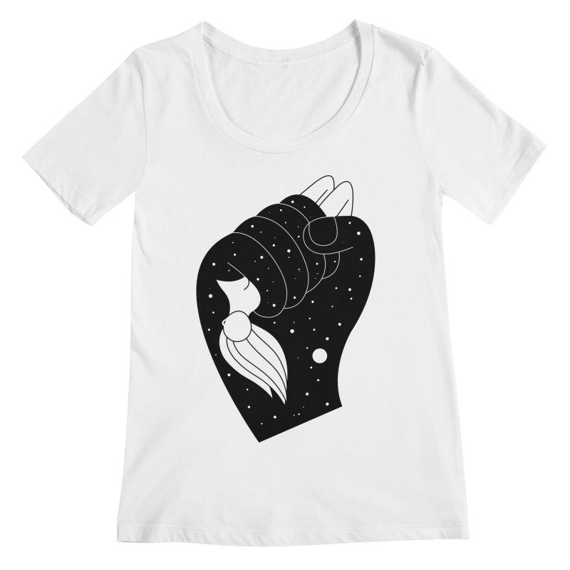 Insomnia Women's Regular Scoop Neck by PENARULIT's Artist Shop