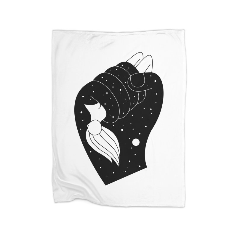 Insomnia Home Fleece Blanket Blanket by PENARULIT illustration