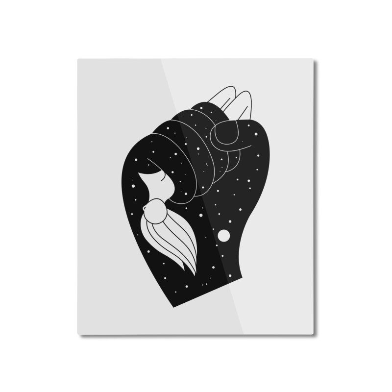 Insomnia Home Mounted Aluminum Print by PENARULIT illustration