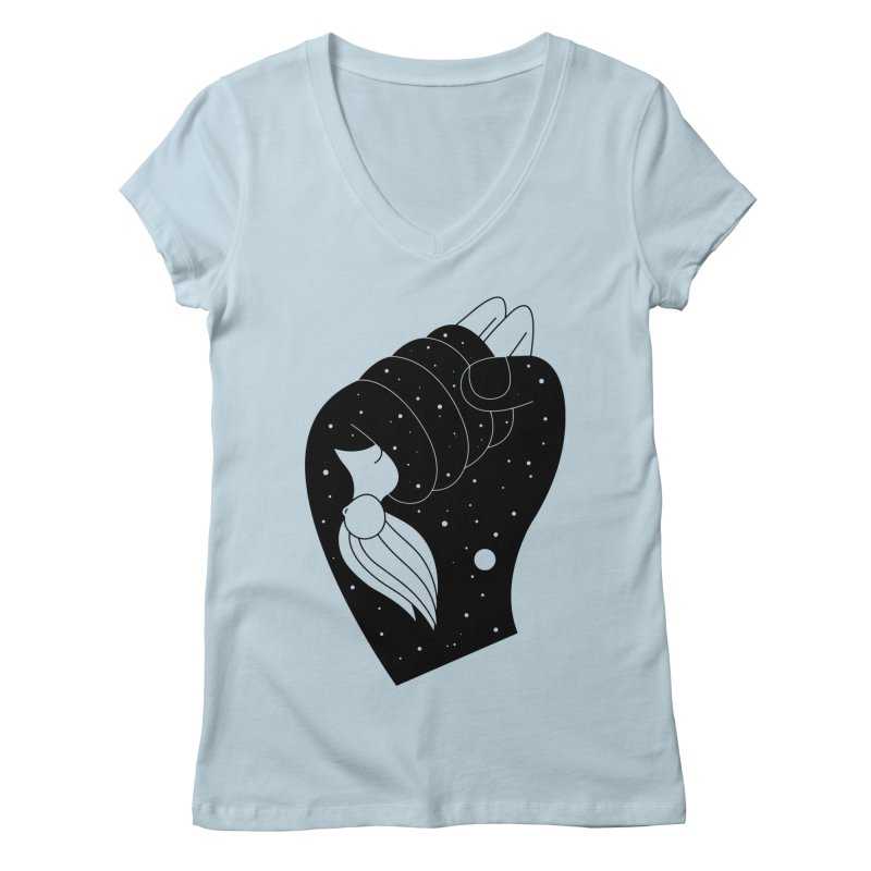Insomnia Women's V-Neck by Ekaterina Zimodro's Artist Shop