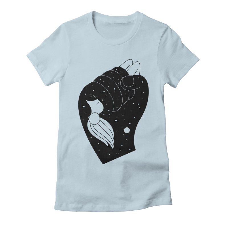 Insomnia Women's Fitted T-Shirt by Ekaterina Zimodro's Artist Shop