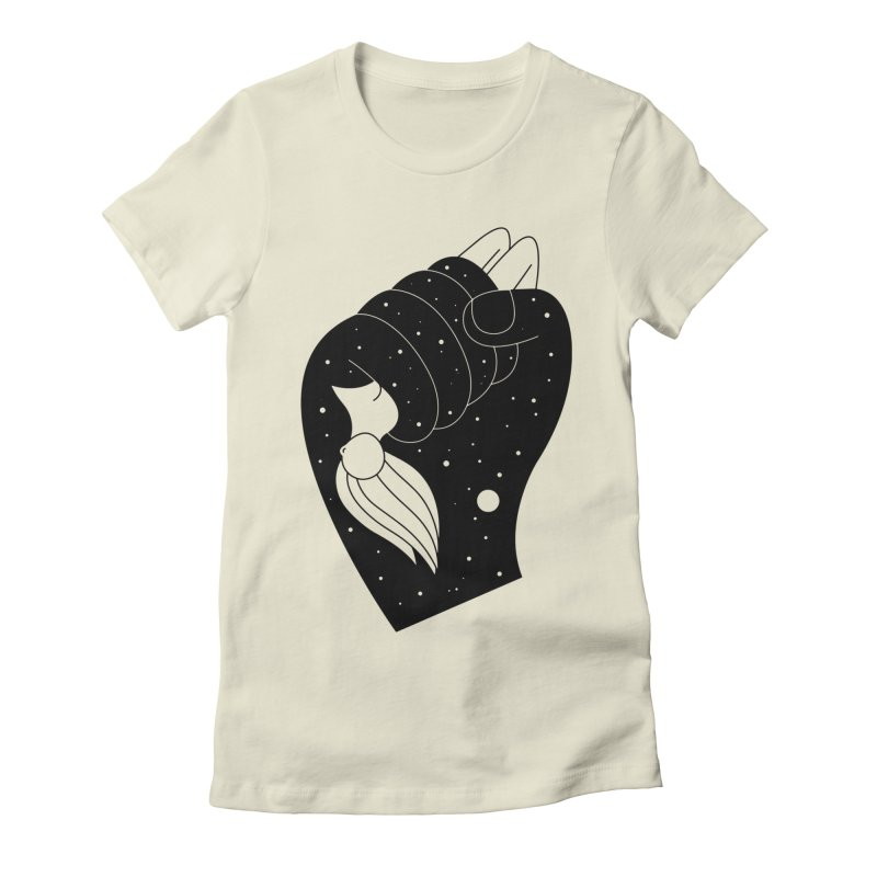Insomnia Women's Fitted T-Shirt by PENARULIT illustration