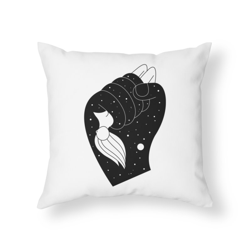 Insomnia Home Throw Pillow by PENARULIT illustration