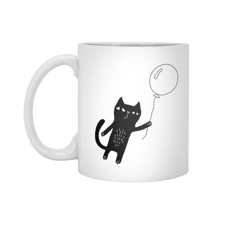 Flying Cat Accessories Standard Mug by PENARULIT illustration