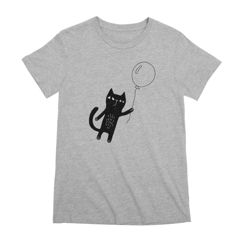 Flying Cat Women's Premium T-Shirt by PENARULIT's Artist Shop
