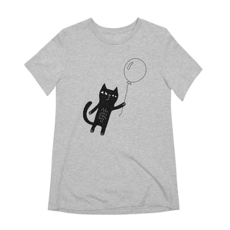 Flying Cat Women's Extra Soft T-Shirt by PENARULIT's Artist Shop