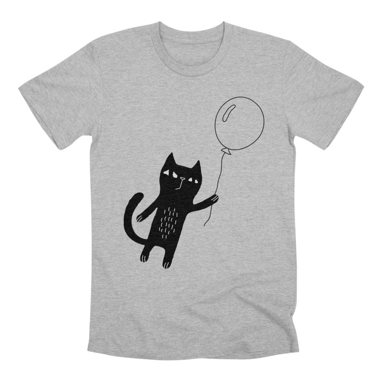 Flying Cat Men's Premium T-Shirt by PENARULIT's Artist Shop