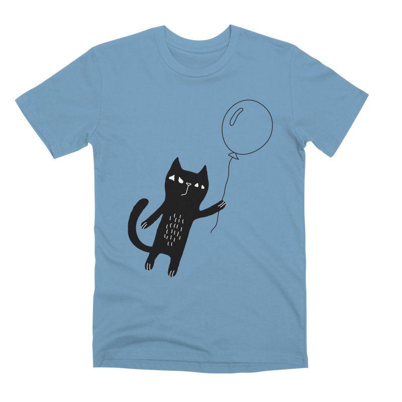 Flying Cat Men's Premium T-Shirt by PENARULIT's Artist Shop