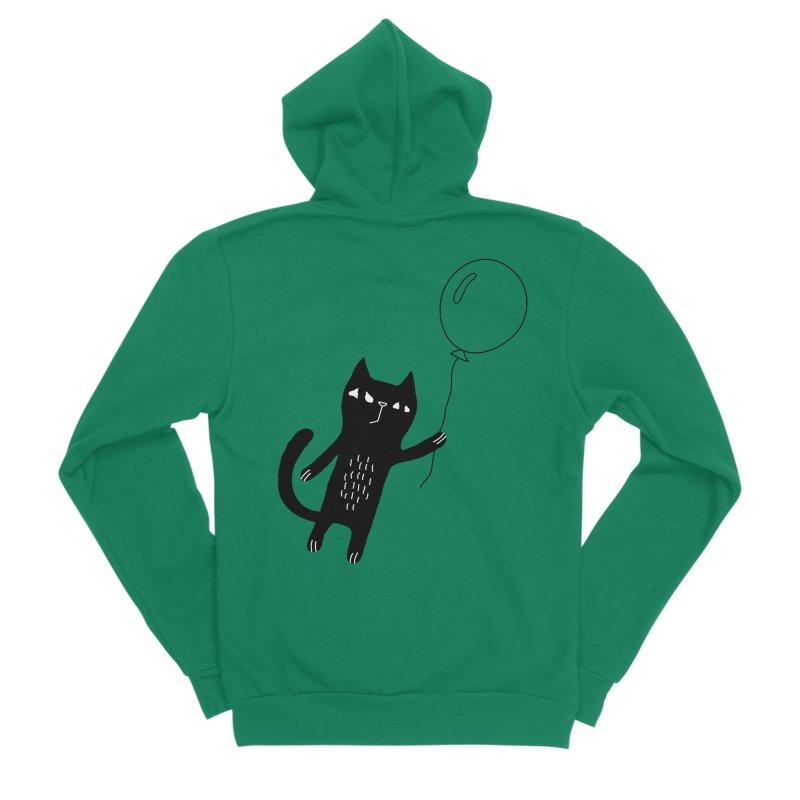 Flying Cat Men's Sponge Fleece Zip-Up Hoody by PENARULIT's Artist Shop