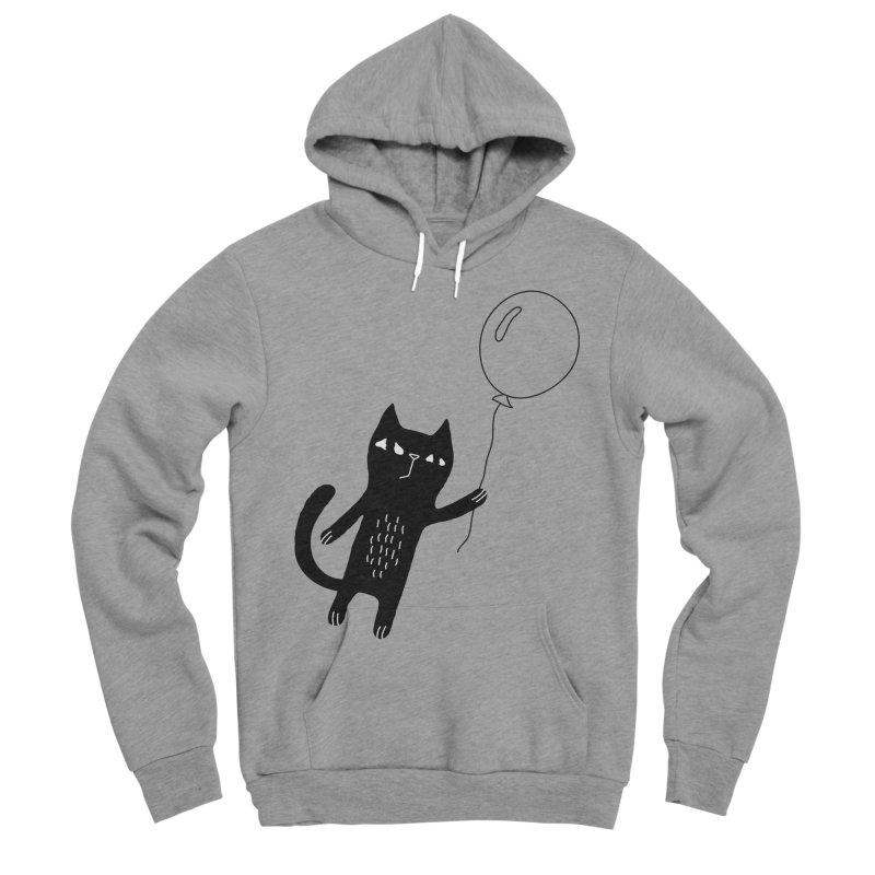 Flying Cat Men's Sponge Fleece Pullover Hoody by PENARULIT's Artist Shop