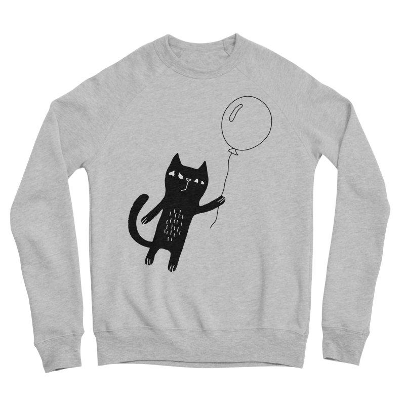 Flying Cat Women's Sponge Fleece Sweatshirt by PENARULIT's Artist Shop