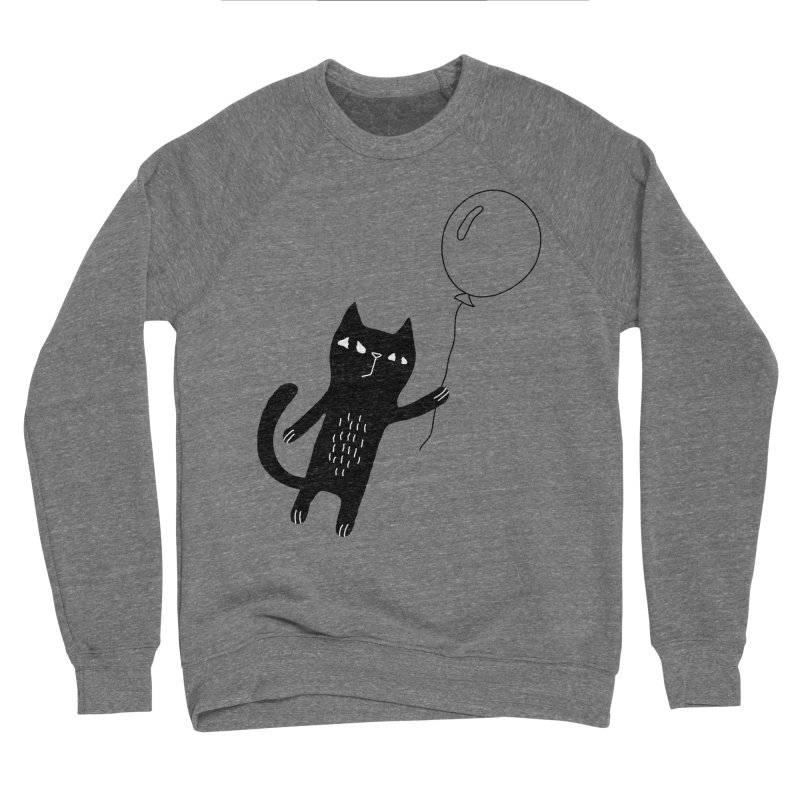 Flying Cat Men's Sponge Fleece Sweatshirt by PENARULIT's Artist Shop