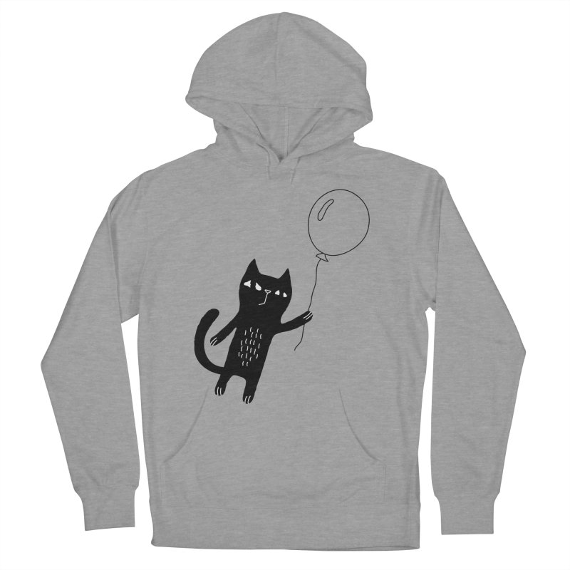 Flying Cat Women's French Terry Pullover Hoody by PENARULIT's Artist Shop