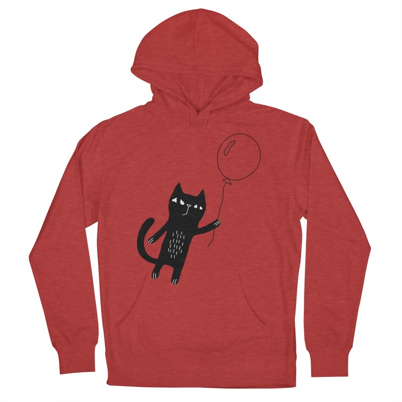 Flying Cat Men's French Terry Pullover Hoody by PENARULIT's Artist Shop