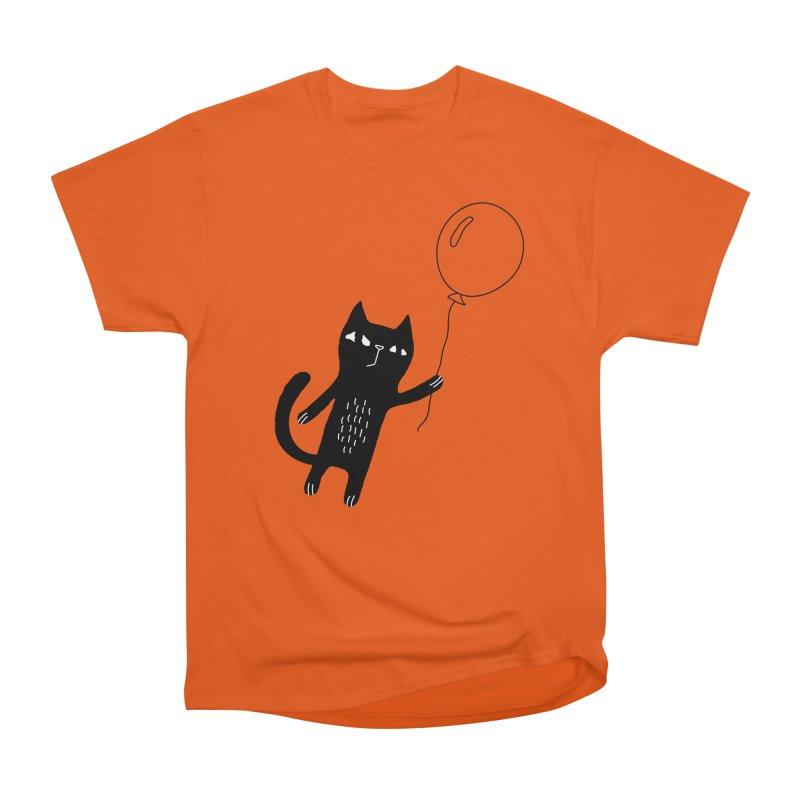 Flying Cat Men's Heavyweight T-Shirt by PENARULIT's Artist Shop