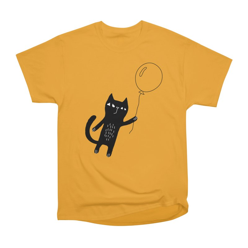 Flying Cat Women's Heavyweight Unisex T-Shirt by PENARULIT's Artist Shop