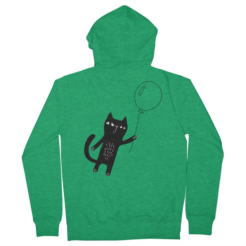 Flying Cat Men's French Terry Zip-Up Hoody by PENARULIT's Artist Shop