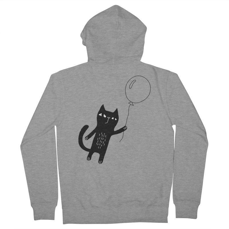 Flying Cat Men's French Terry Zip-Up Hoody by PENARULIT's Artist Shop