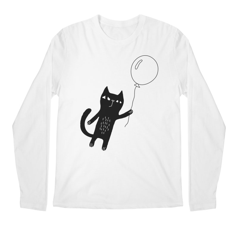 Flying Cat Men's Regular Longsleeve T-Shirt by PENARULIT's Artist Shop