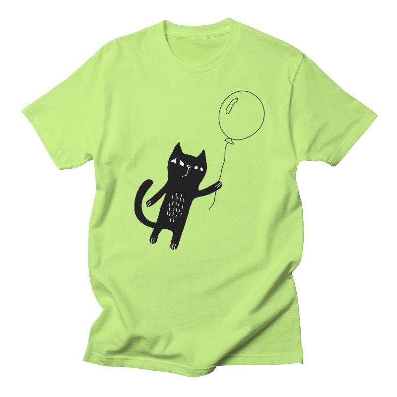 Flying Cat Women's Regular Unisex T-Shirt by PENARULIT's Artist Shop