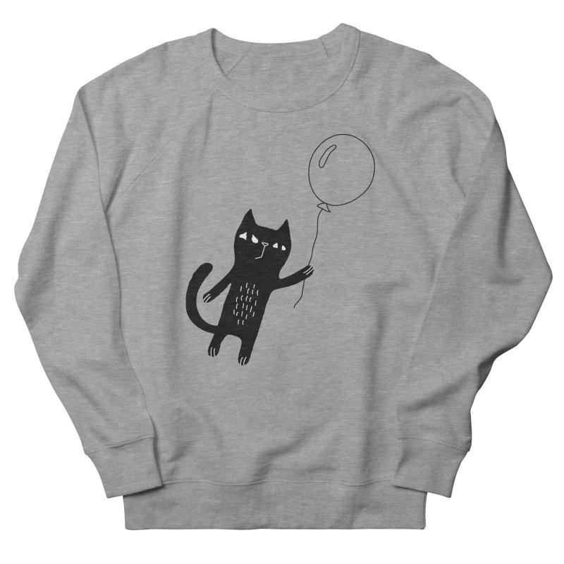 Flying Cat Women's French Terry Sweatshirt by PENARULIT's Artist Shop