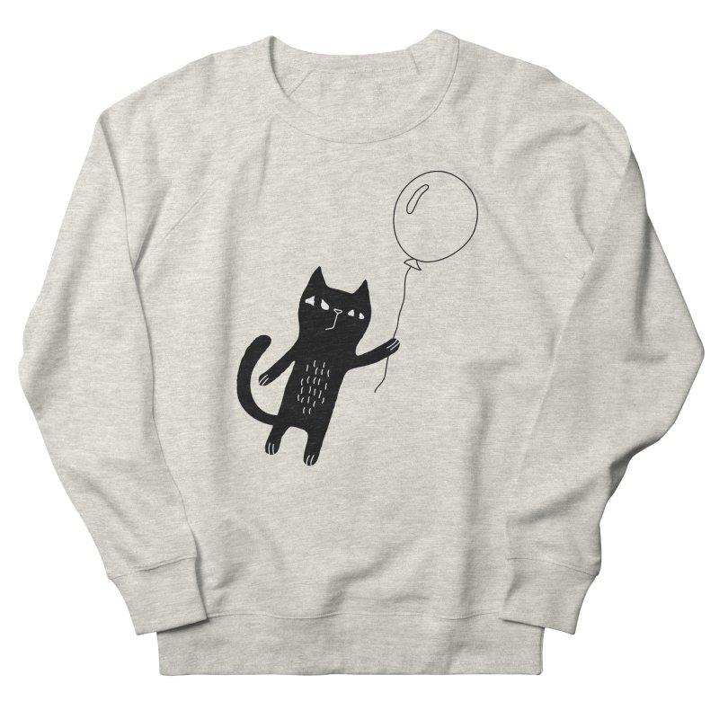 Flying Cat Women's French Terry Sweatshirt by PENARULIT's Artist Shop