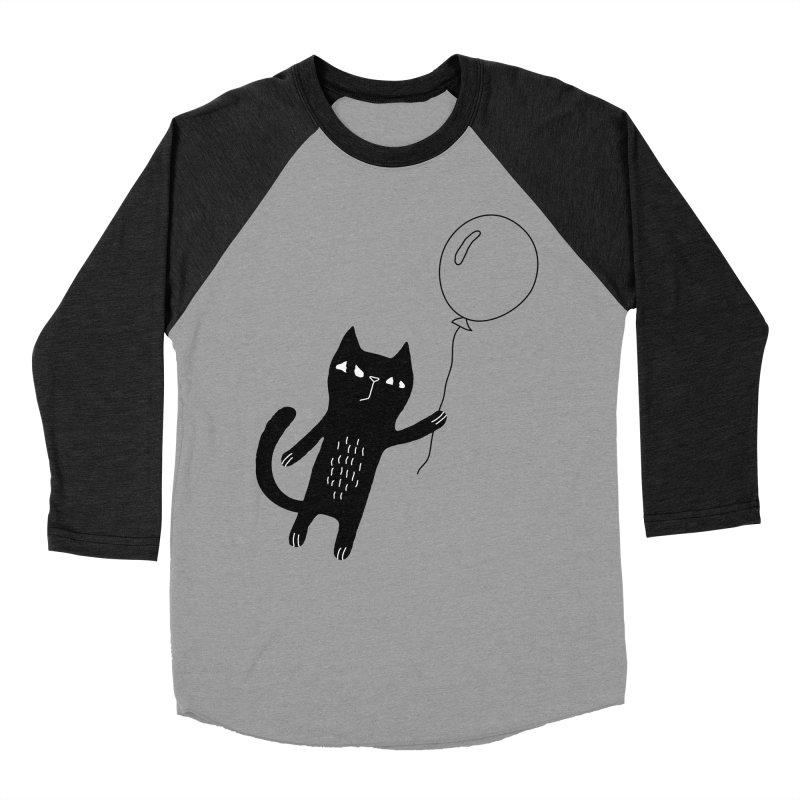 Flying Cat Men's Baseball Triblend Longsleeve T-Shirt by PENARULIT's Artist Shop