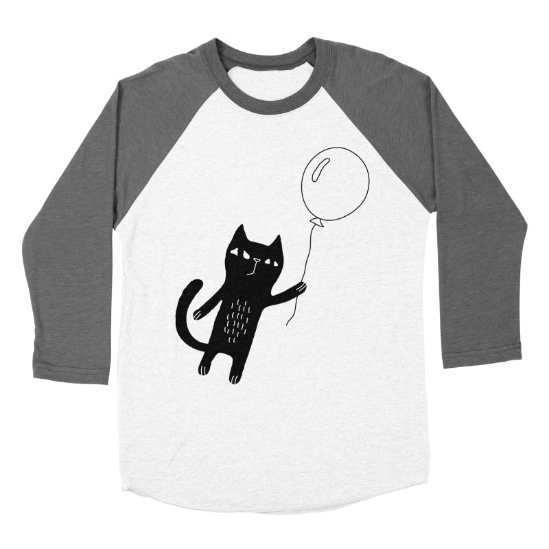 Flying Cat Men's Baseball Triblend Longsleeve T-Shirt by PENARULIT's Artist Shop