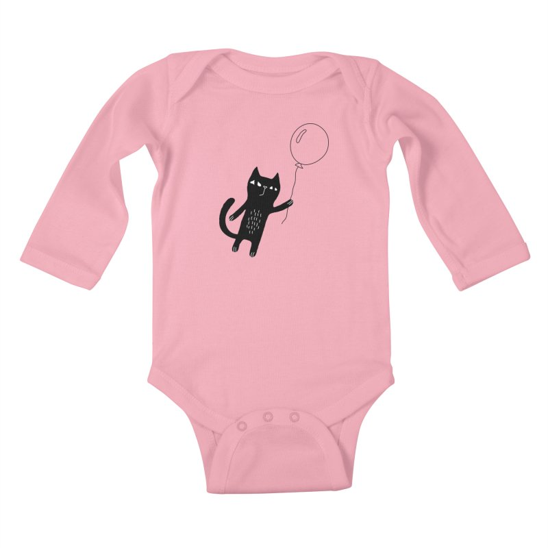 Flying Cat Kids Baby Longsleeve Bodysuit by PENARULIT's Artist Shop